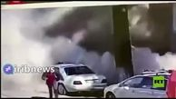 فیلمی از لحظه ریزش ساختمان بر سر عابران!