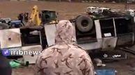 واژگونی مرگبار اتوبوس در اصفهان + فیلم