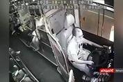 منفجر شدن گوشی هوشمند در اتوبوس! + فیلم