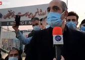 علی انصاریان در آغوش مجری تلویزیون