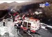 خانواده ۳ نفره زیر کامیون له شدند
