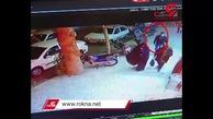 فیلمی از لحظه دزدی حرفه ای موتور سیکلت در مشهد