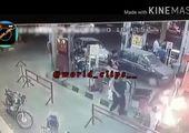 اولین فیلم از آتش سوزی پمپ بنزین در پیروزی