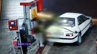 حمله به کارگر پمپ بنزین با چاقو + فیلم